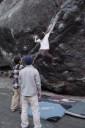 mitake, bouldering