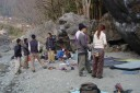 mitake, bouldering group