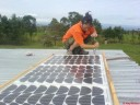 Rie mounting the panels