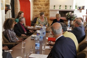 Kai Staats - At a Round Table with the Elders, Jerusalem, Palestine