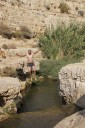 Kai Staats - swimming in the Wadi Qelt