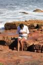 Kai Staats: Girl on Sandstone, Kalk Bay, South Africa
