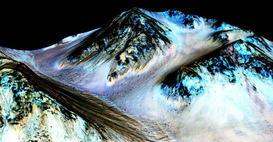 water on Mars by NASA