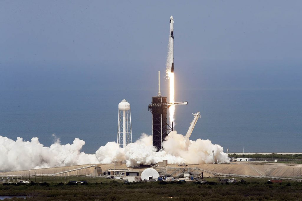NASA SpaceX Demo 2 launch, 2020 05/30